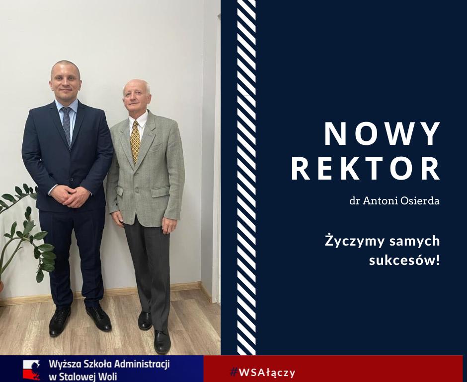 Nowy Rektor wWyższej Szkole Administracji!